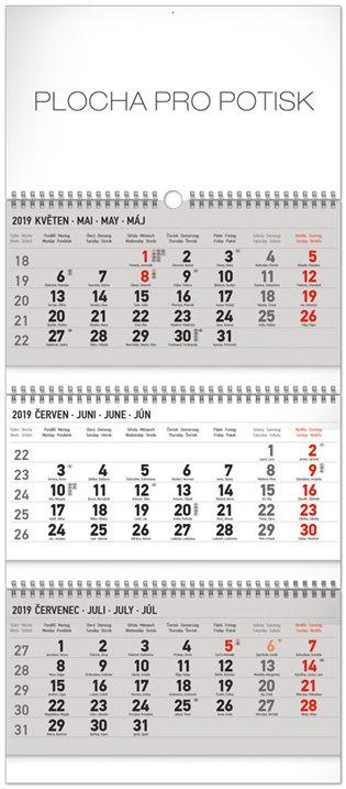 Nástěnný kalendář 3 měsíční standard skládací CZ 2019 - - | Booksquad.ink