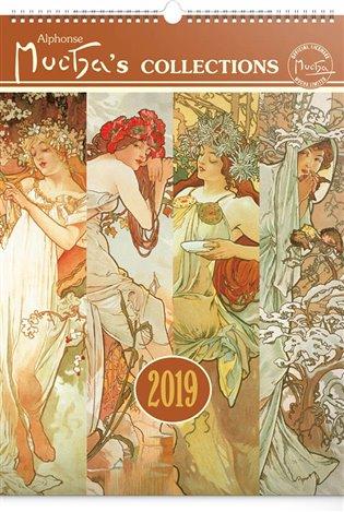 Nástěnný kalendář Alfons Mucha 2019, 33 x 46 cm - - | Booksquad.ink