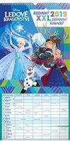 Obálka knihy Nástěnný kalendář Rodinný plánovací XXL – Ledové království 2019