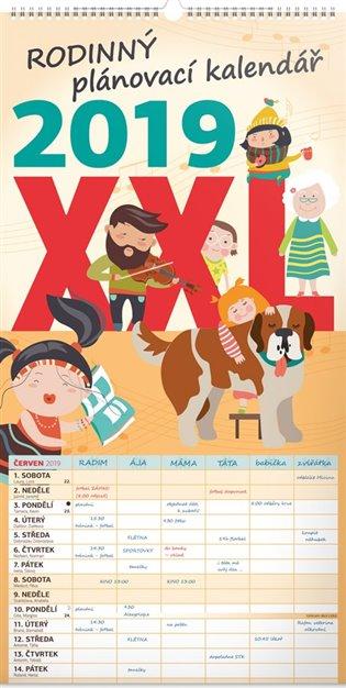 Nástěnný kalendář Rodinný plánovací XXL 2019 - -   Booksquad.ink