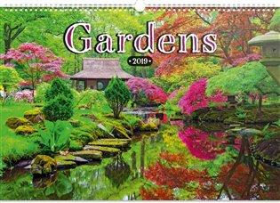 Nástěnný kalendář Zahrady 2019 - - | Booksquad.ink