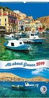 Obálka knihy Nástěnný kalendář Zaostřeno na Řecko 2019