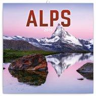Poznámkový kalendář Alpy 2019