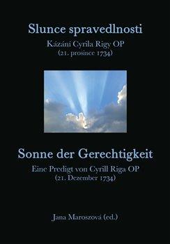 Obálka titulu Slunce spravedlnosti / Sonne der Gerechtigkeit