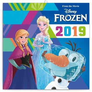 Poznámkový kalendář Frozen – Ledové království 2019, s50 samolepkami - - | Booksquad.ink