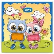 Poznámkový kalendář Chytrá soví rodinka 2019