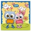 Obálka knihy Poznámkový kalendář Chytrá soví rodinka 2019