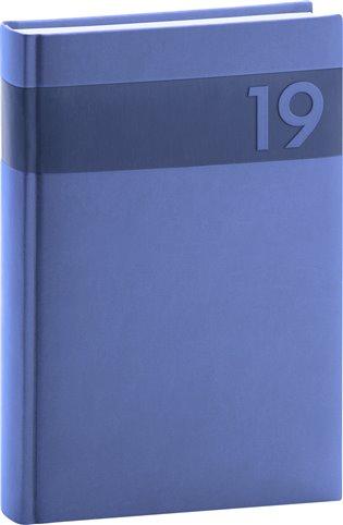 Denní diář Aprint 2019, modrý:15 x 21 cm - - | Booksquad.ink