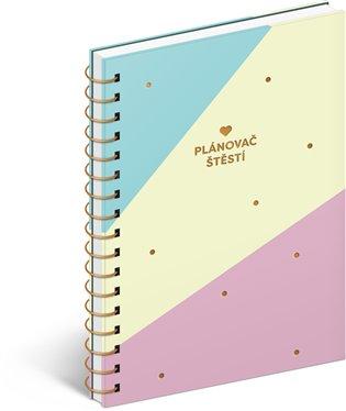 Denní diář Plánovač štěstí v dárkovém balení:15,6 x 22,6 cm - -   Booksquad.ink