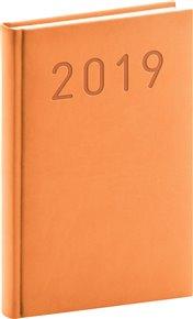 Denní diář Vivella Fun 2019, oranžový