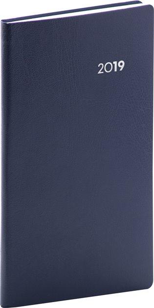 Kapesní diář Balacron 2019, modrý:9 x 15,5 cm - -   Booksquad.ink