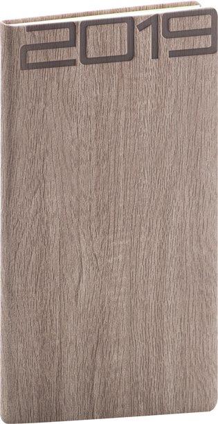 Kapesní diář Forest 2019, hnědý:9 x 15,5 cm - - | Booksquad.ink