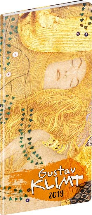 Kapesní diář Gustav Klimt 2019, plánovací měsíční:8 x 18 cm - - | Booksquad.ink