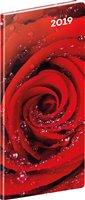 Obálka knihy Kapesní diář Růže 2019, plánovací měsíční