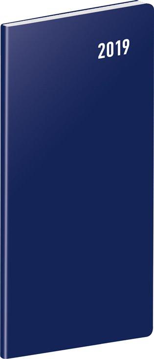Kapesní diář Modrý 2019, plánovací měsíční:8 x 18 cm - -   Booksquad.ink