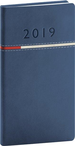 Kapesní diář Tomy 2019, modrý:9 x 15,5 cm - -   Booksquad.ink