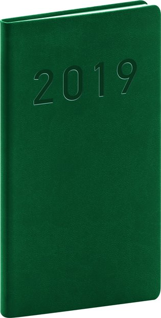 Kapesní diář Vivella Classic 2019, zelený:9 x 15,5 cm - - | Booksquad.ink