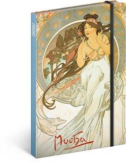 Obálka titulu Notes Alfons Mucha – Hudba, llinkovaný