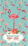 Obálka knihy Školní diář Plameňáci (září 2018 – prosinec 2019)