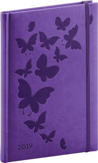 Týdenní diář Vivella Speciál 2019, fialový:15 x 21 cm - -   Booksquad.ink