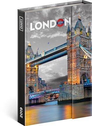 Týdenní magnetický diář Londýn 2019:10,5 x 15,8 cm - - | Booksquad.ink