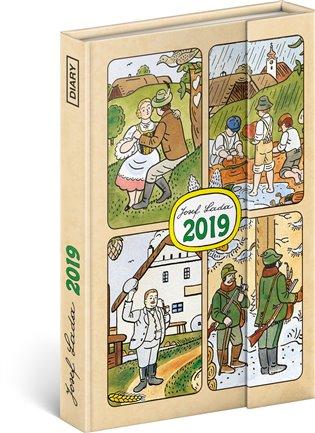 Týdenní magnetický diář Josef Lada 2019:10,5 x 15,8 cm - - | Booksquad.ink