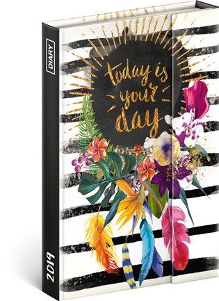 Týdenní magnetický diář Your day 2019:10,5 x 15,8 cm - - | Booksquad.ink