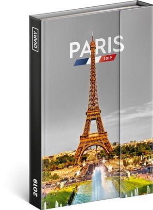 Týdenní magnetický diář Paříž 2019:10,5 x 15,8 cm - - | Replicamaglie.com