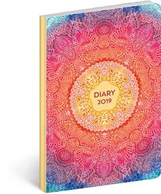 Ultralehký diář Mandala 2019:11 x 17 cm - - | Booksquad.ink