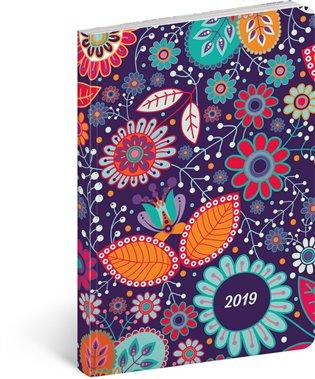 Ultralehký diář Květiny 2019:11 x 17 cm - - | Booksquad.ink