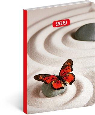 Ultralehký diář Zen 2019:11 x 17 cm - -   Booksquad.ink