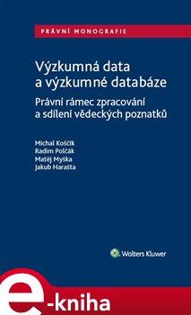 Obálka titulu Výzkumná data a výzkumné databáze.
