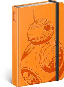 Notes Star Wars – BB-8, linkovaný. 10,5 x 15,8 cm