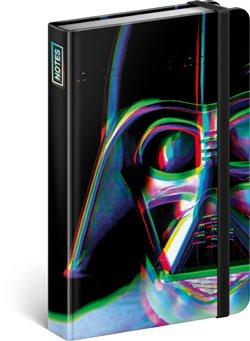Notes Star Wars – Vader, linkovaný. 10,5 x 15,8 cm
