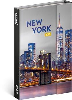 Týdenní magnetický diář New York 2019. 10,5 x 15,8 cm