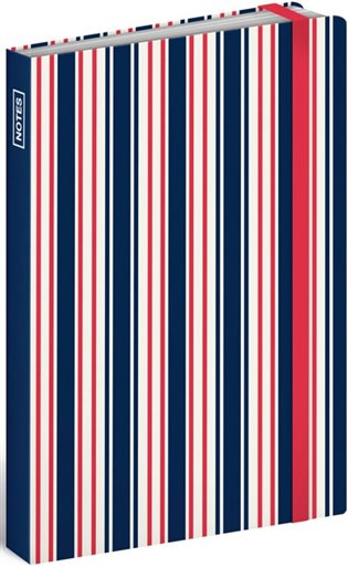 Notes Sailor Stripes, linkovaný, 10,5 x 15,8 cm - -   Booksquad.ink