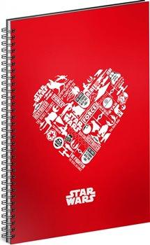 Obálka titulu Spirálový blok Star Wars – Red, nelinkovaný, A5
