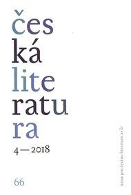 Česká literatura 4/2018