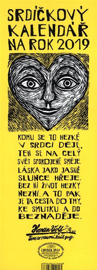 Srdíčkový kalendář na rok 2019 - Honza Volf | Booksquad.ink