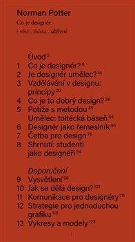 Obálka titulu Co je designér: věci, místa, sdělení
