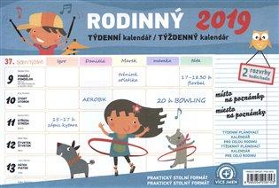 Týdenní rodinný plánovací kalendář s háčkem 2019:30 x 21 cm - -   Booksquad.ink