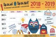 Školní plánovací kalendář s háčkem 8/2018 – 7/2019