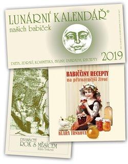 Obálka titulu Lunární kalendář 2019 + Babiččiny recepty na přirozenější život + Dvanáctý rok s Měsícem