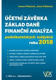 Účetní závěrka – Základ daně – Finanční analýza podnikatelských subjektů roku 2018