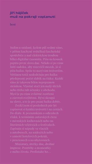 Muž na pokraji vzplanutí - Jiří Hájíček | Booksquad.ink