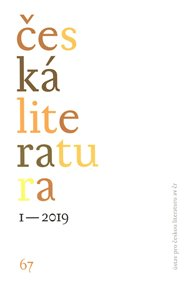 Česká literatura 1/2019