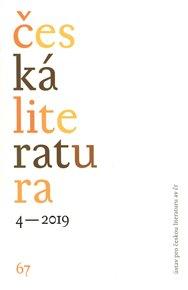 Česká literatura 4/2019
