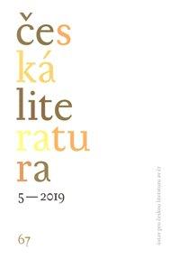 Česká literatura 5/2019