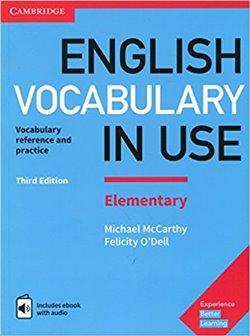 Obálka titulu English Vocabulary in Use Elementary + eBook