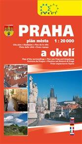 Praha plán města 1 : 20 000 a okolí 2018